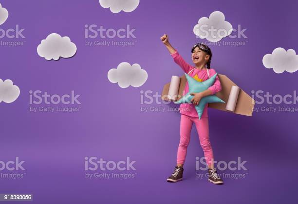Child Is Playing Superhero Stock Photo - Download Image Now