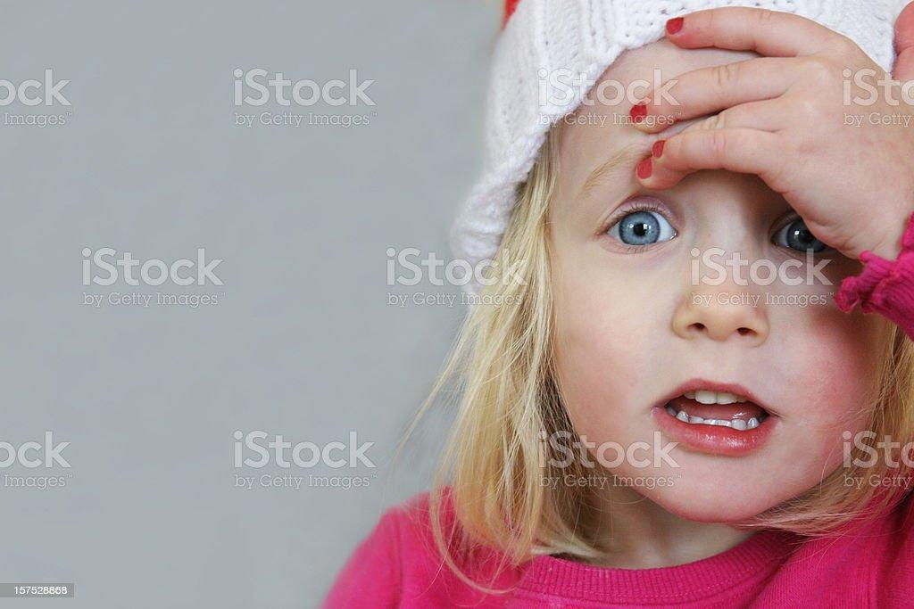 Child is shocked stock photo