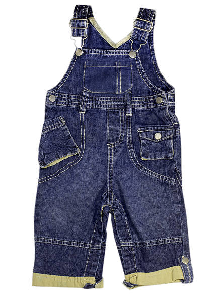 kind jeans für herren hosen overall isoliert. - jeans overall stock-fotos und bilder