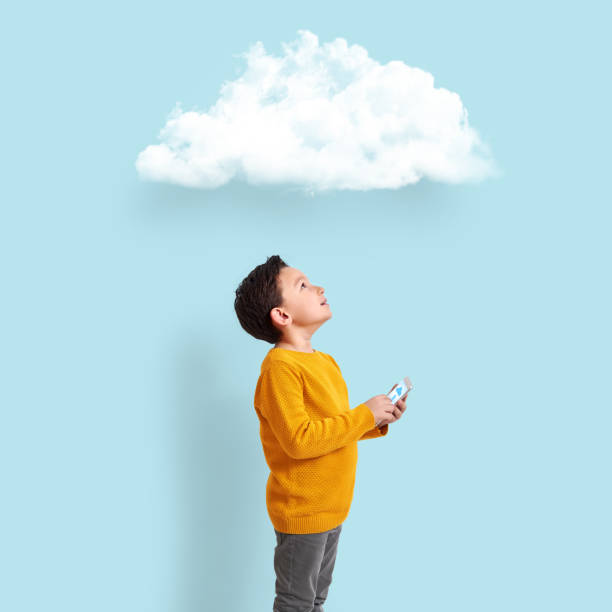technologie numérique d'apprentissage enfant - nuage 6 photos et images de collection