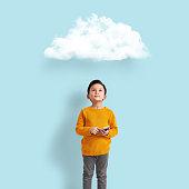 Child learning digital technology
