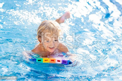 1159904048istockphoto Child learning to swim. Kids in swimming pool. 1154859381