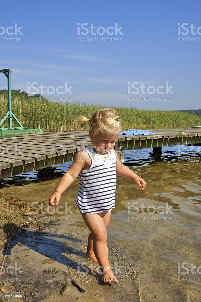 Child, little girl having fun royalty-free stock photo