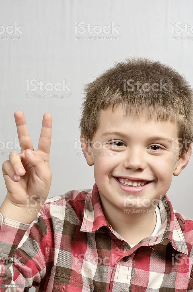 child making ugly faces 21 royalty-free stock photo