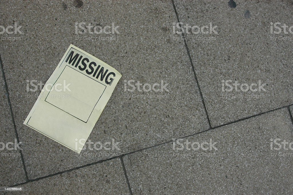 Child Missing! stock photo