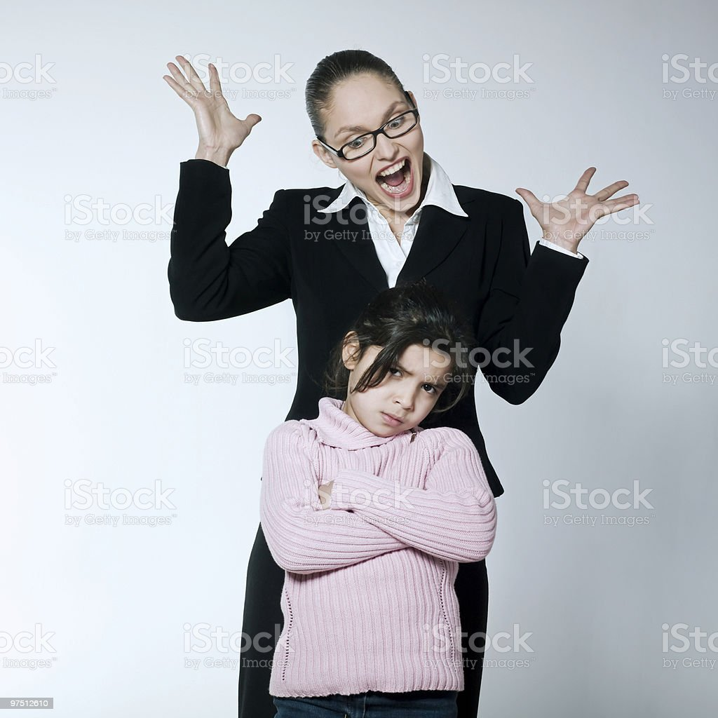 child mother education brat problem issues conflict dispute royalty-free stock photo