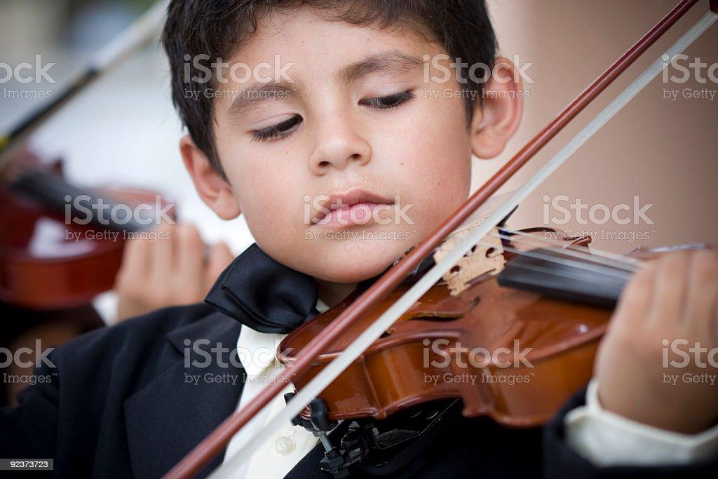child Musical Prodigy stock photo