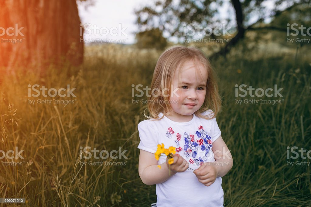 child near tree royalty-free stock photo