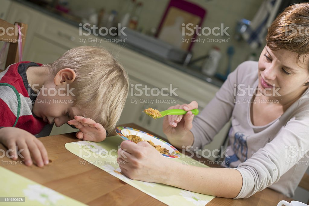 Child Not Eating royalty-free stock photo