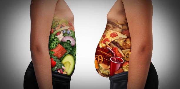 兒童營養選擇 - 不健康飲食 個照片及圖片檔