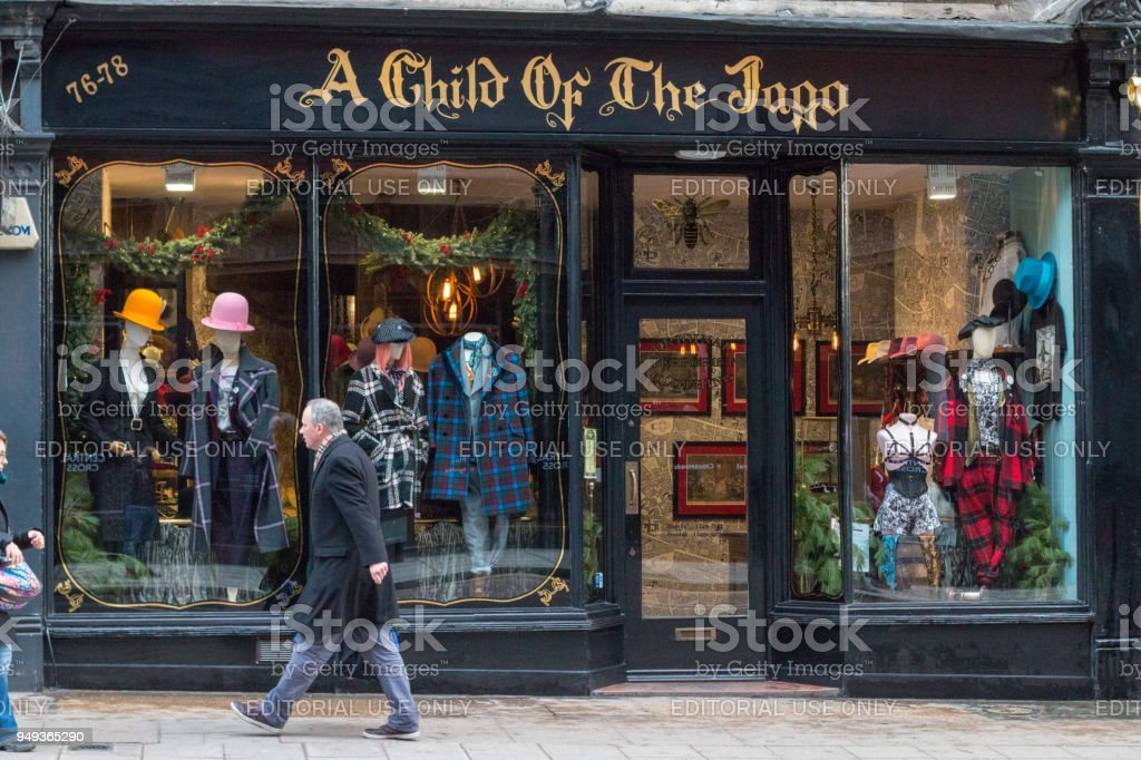 A Child of the Jago in Charing Cross Road, London stock photo