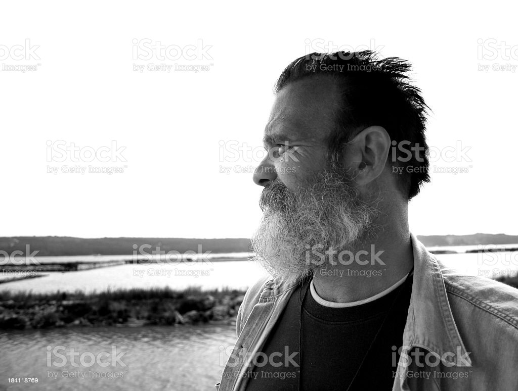 Child of the sea (bw) royalty-free stock photo