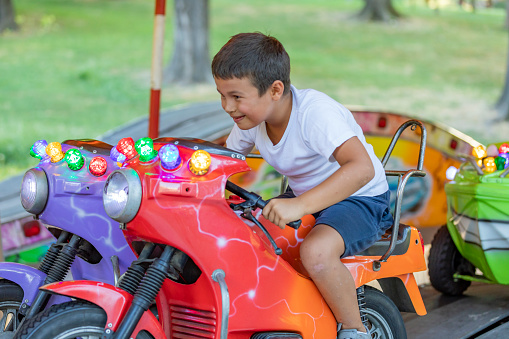 Child on a ride