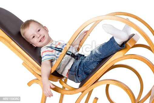 istock Child on a rocking chair 469159080