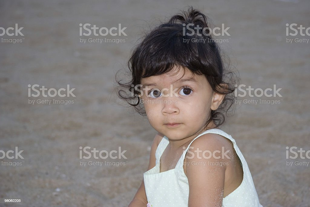 Child on Beach royalty-free stock photo