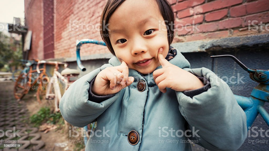 Child on bicycle royalty-free stock photo