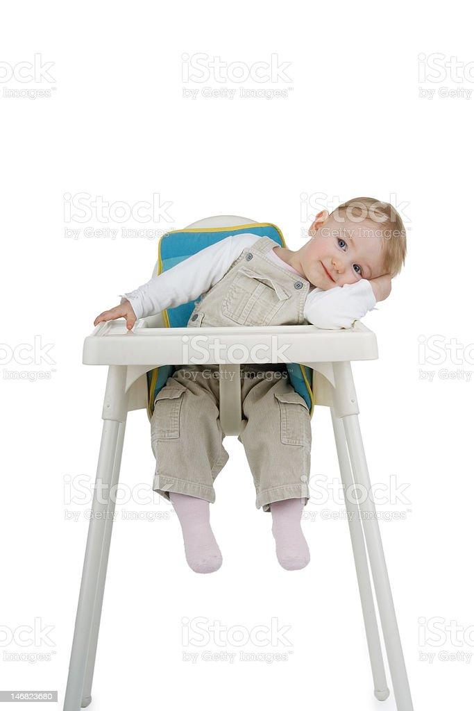 Child on child's stool. stock photo