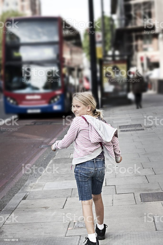 Child on city street royalty-free stock photo