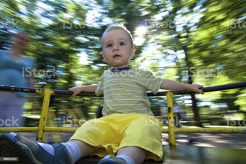 Child on ride royalty-free stock photo