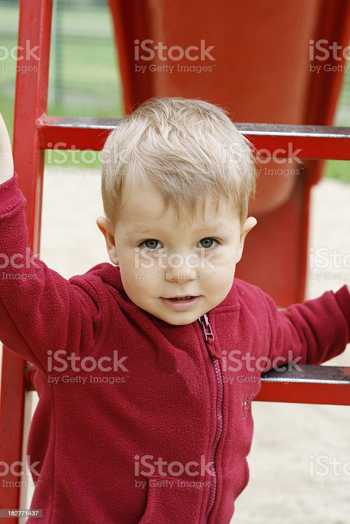 Child on the playground royalty-free stock photo