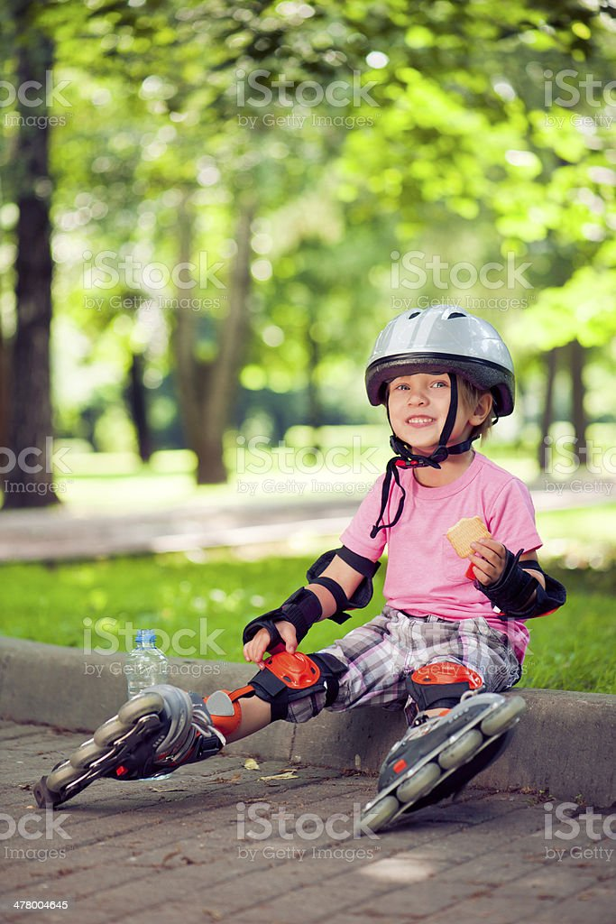 Child outdoors in summer royalty-free stock photo