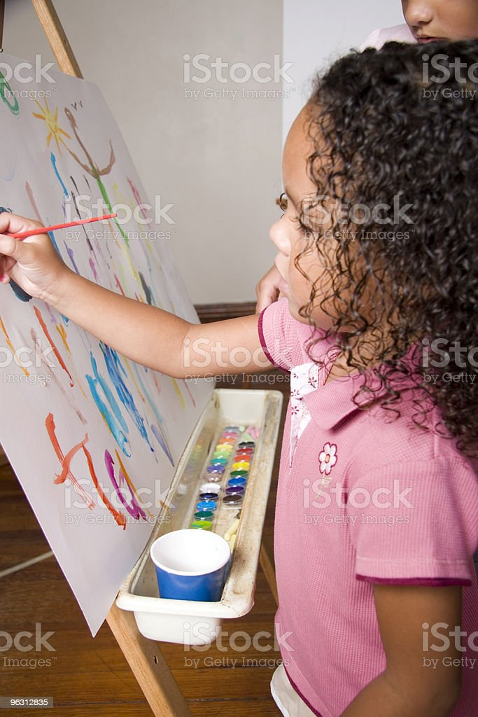 Child Painting royalty-free stock photo