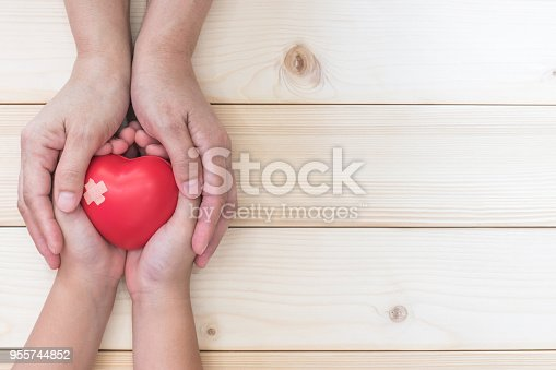 istock Child parenting, nursing care, medical health for home family and kid's life insurance concept 955744852