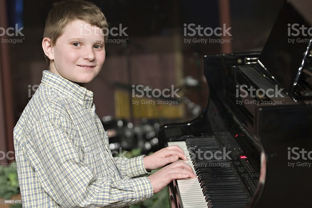 Child Performer on Stage royalty-free stock photo