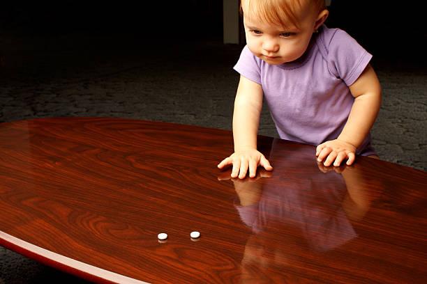 Child Pills stock photo