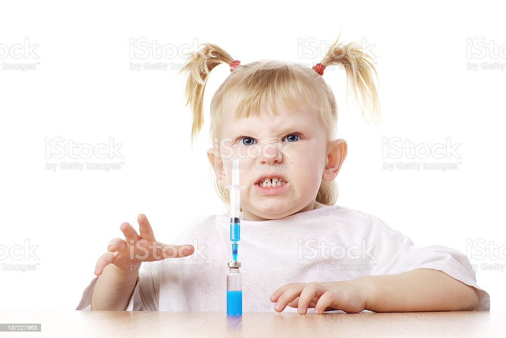 child playing as a doctor royalty-free stock photo