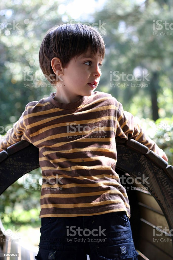 Child Playing in a Playground Park royalty-free stock photo