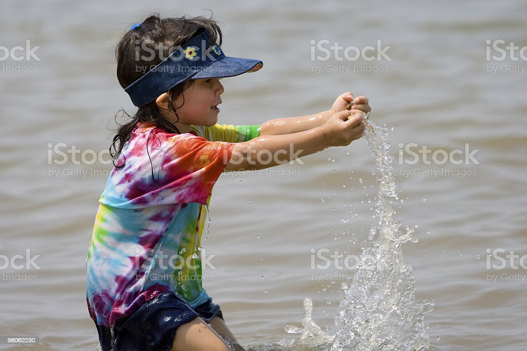Child Playing in Water royalty-free stock photo