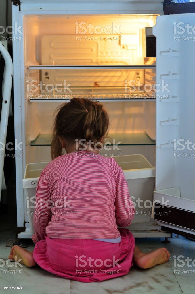 Child Poverty stock photo