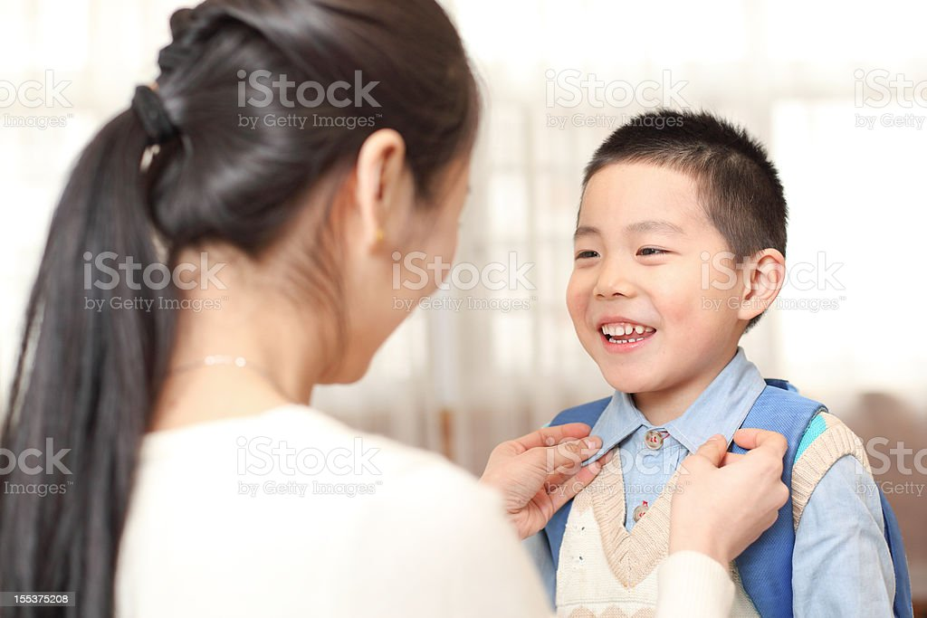 child prepare  go to school royalty-free stock photo