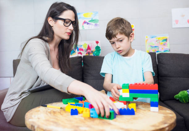 child psychologist at work - school counselor stock pictures, royalty-free photos & images
