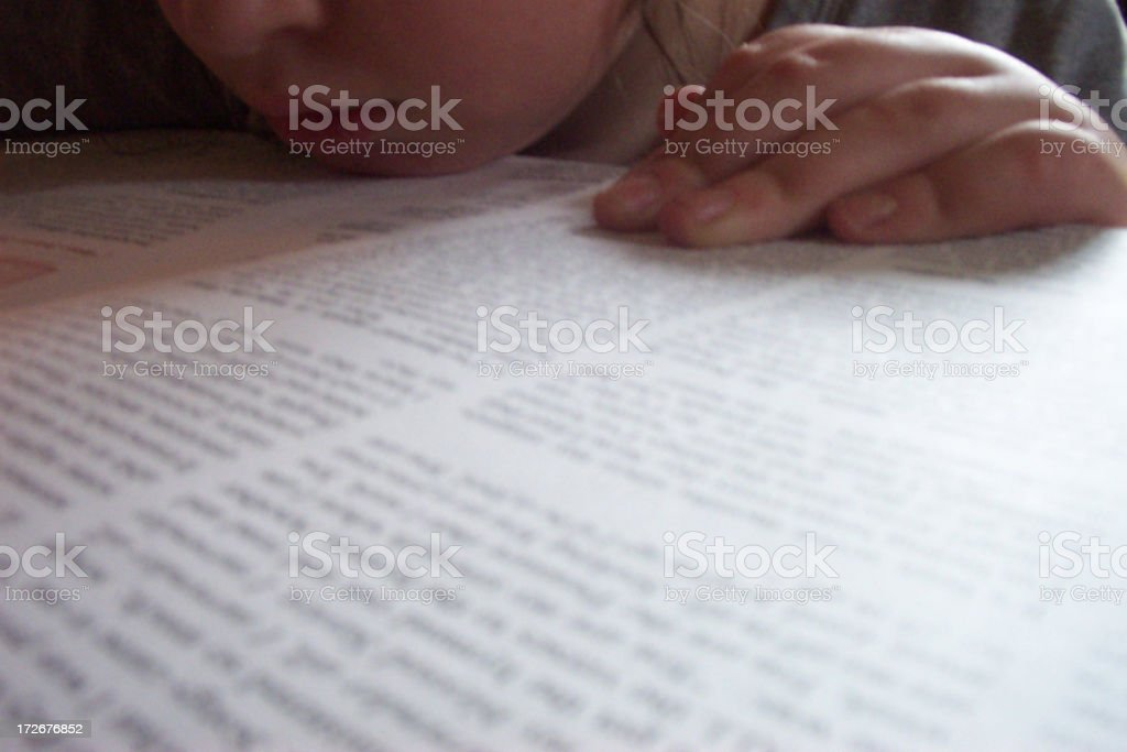 Child Reading royalty-free stock photo