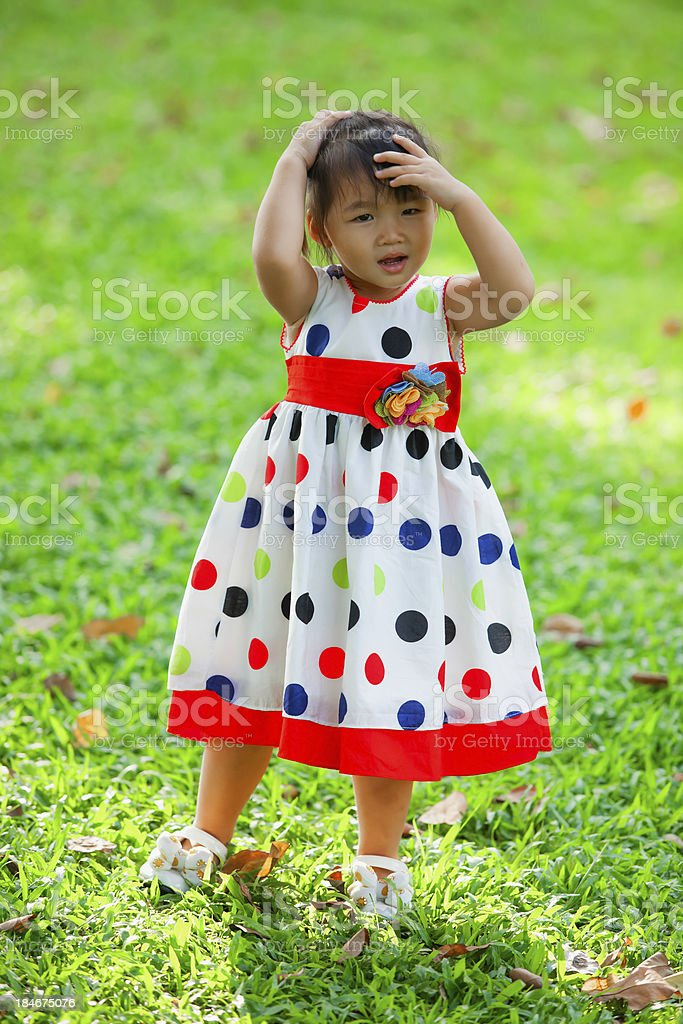 Child relaxing in the park. royalty-free stock photo