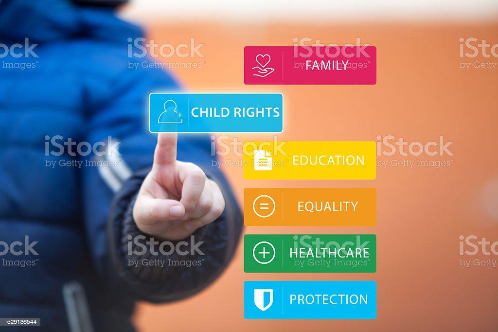 Kind Rechte. – Foto