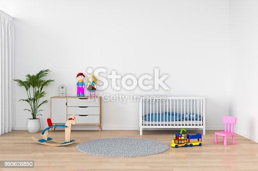 1213866189 istock photo child room interior for mockup, 3D rendering 993626850