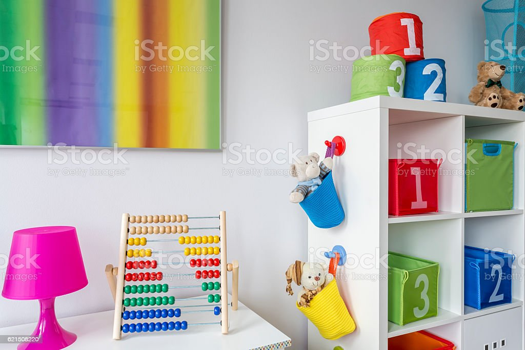 Child room with colorful painting Lizenzfreies stock-foto