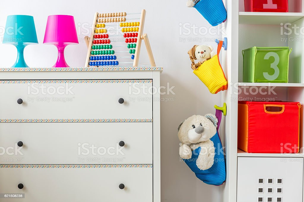 Child room with toys foto stock royalty-free