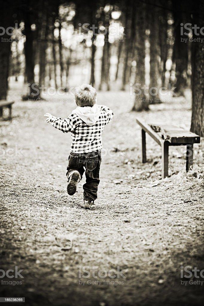 Child running stock photo