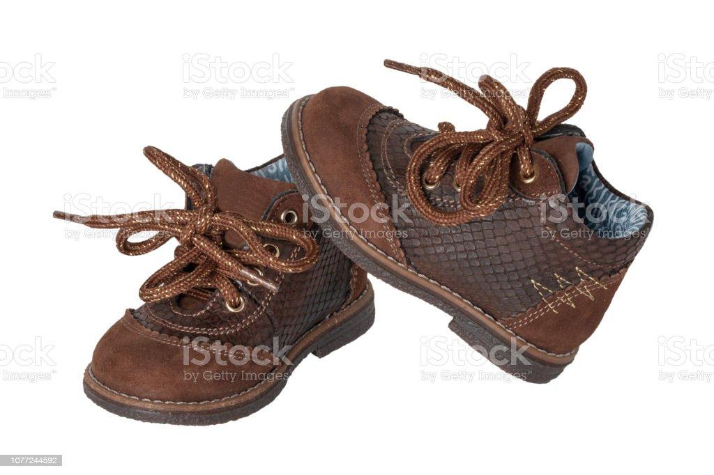 mejor selección e3dc3 02837 Moda De Zapatos De Niño Un Par De Zapatos De Cuero Marrón ...