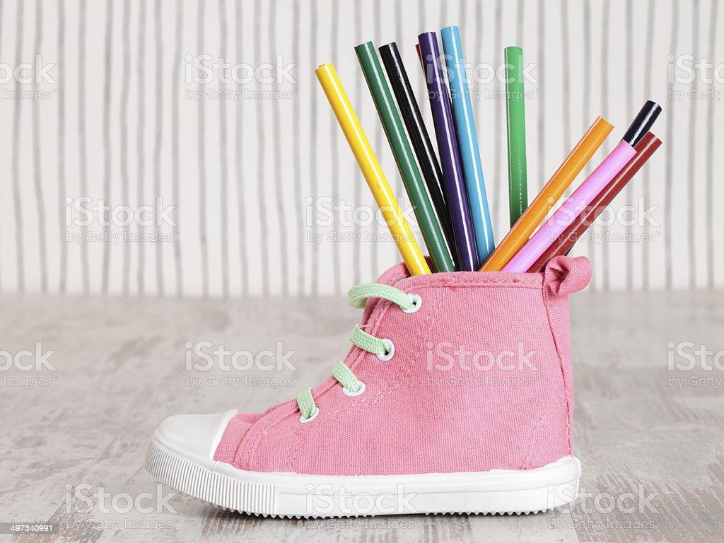 child shoe royalty-free stock photo
