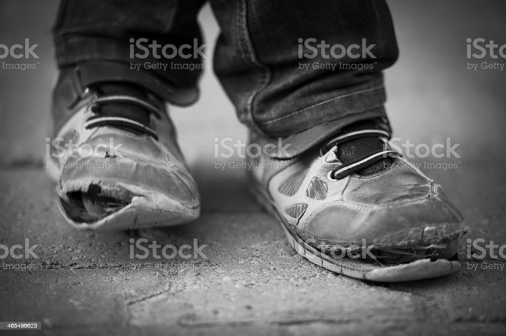 child shoes stock photo
