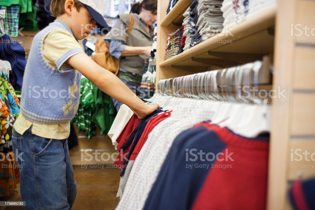 Child Shopping For Clothes royalty-free stock photo