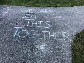 Covid19 Sidewalk message