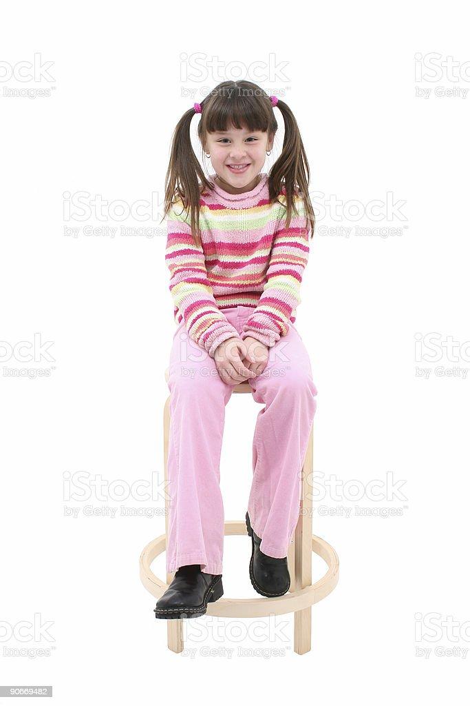 Fantastic Child Sitting On A Wooden Stool Stock Photo More Pictures Frankydiablos Diy Chair Ideas Frankydiabloscom