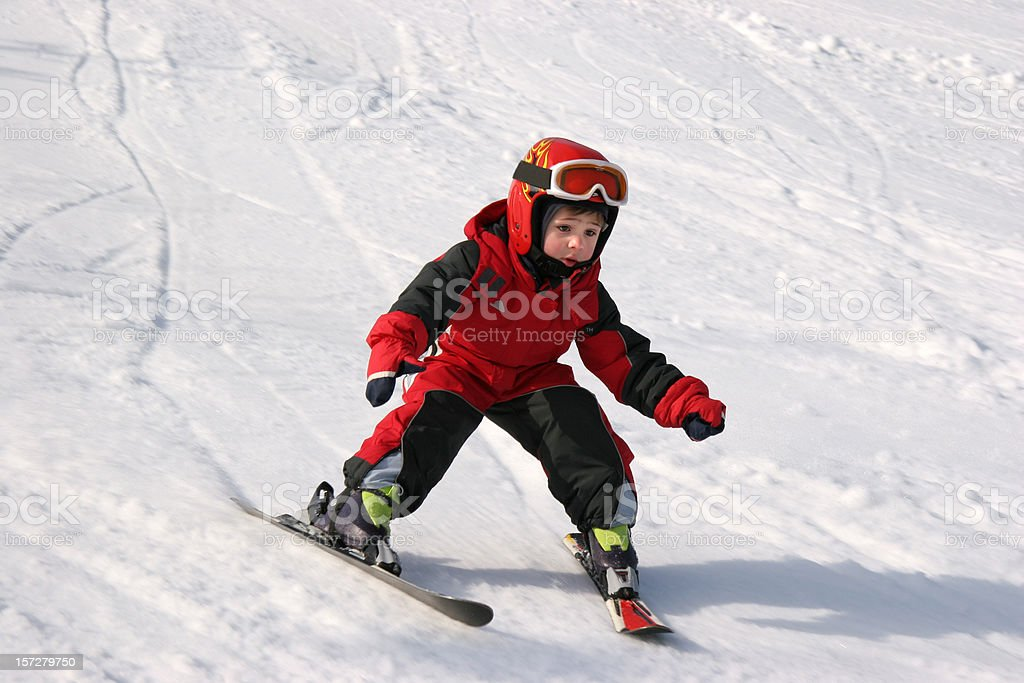 Child skiing royalty-free stock photo