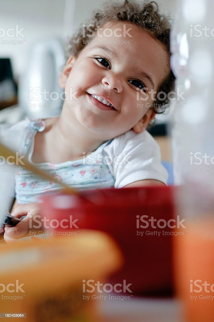Child smiling at camera ( series ) royalty-free stock photo